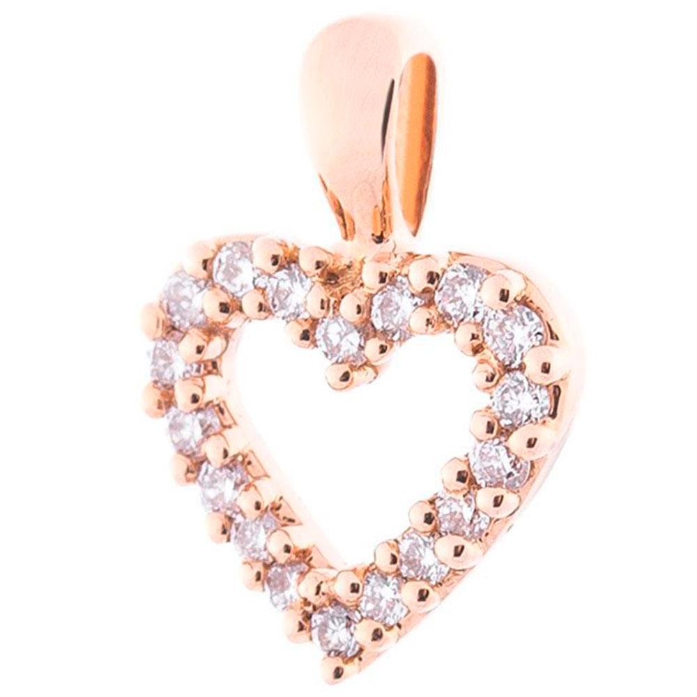 Кулон-сердце с бриллиантами