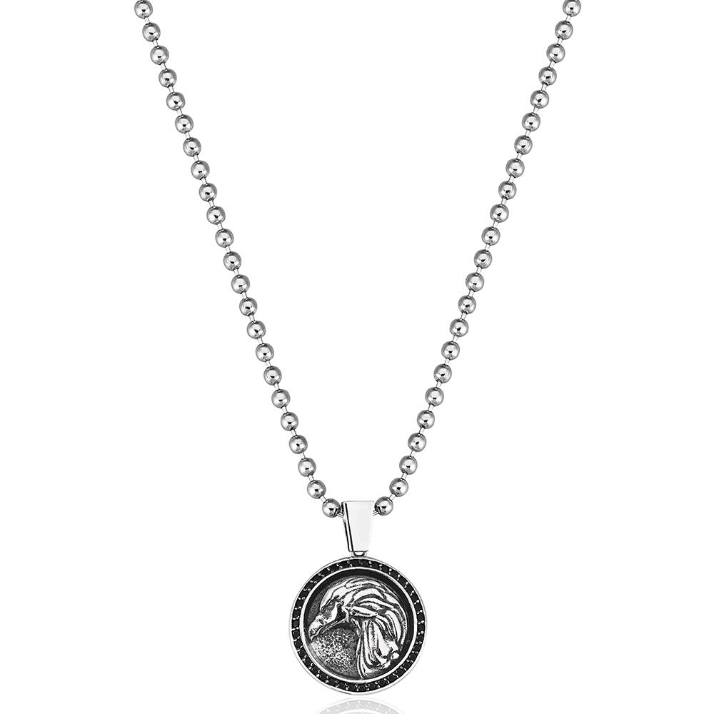 Серебряный кулон Atolyestone London с профилем орла