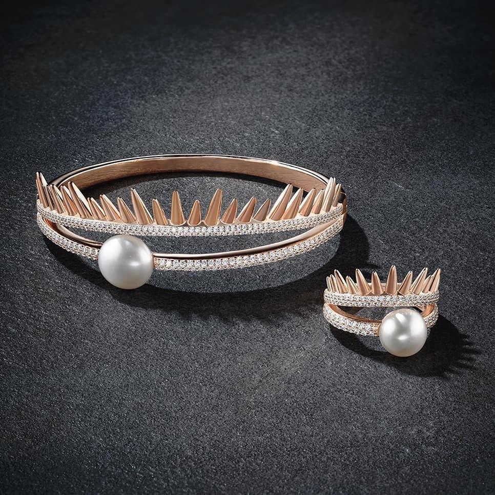 Серебряное кольцо APM Monaco Spike c жемчугом