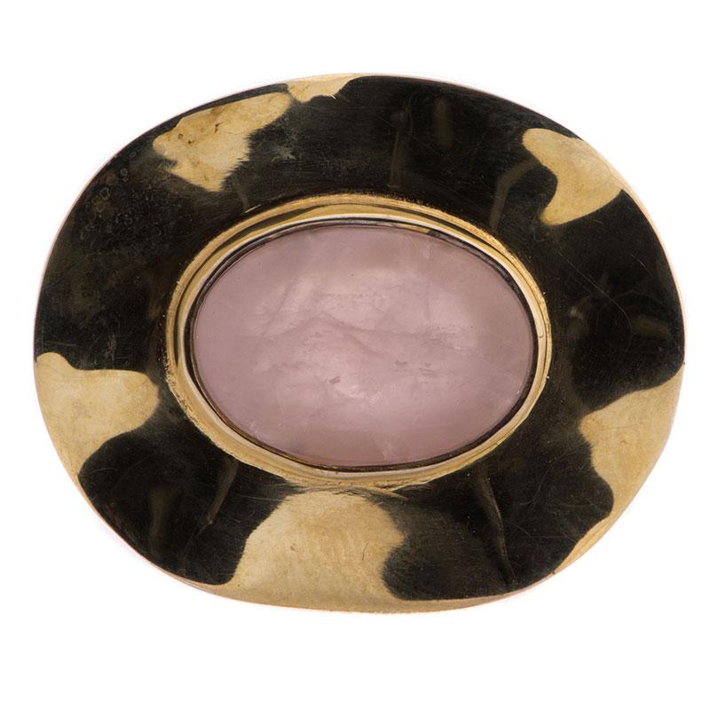 Перстень Adami & Martucci с розовым камнем овальной формы