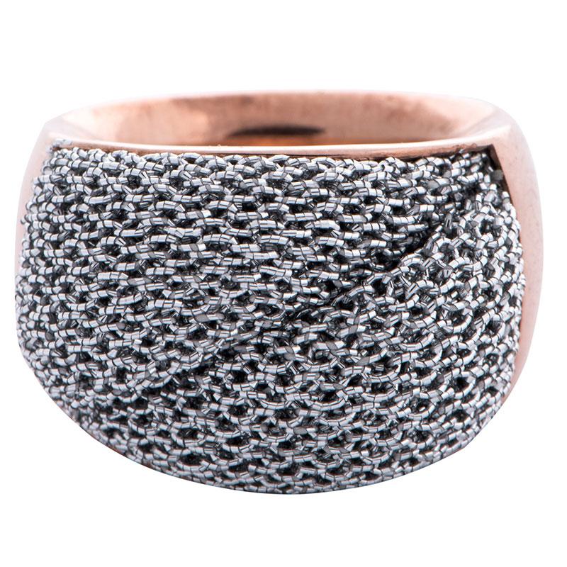 Перстень Adami & Martucci Mesh с серебряной сеткой