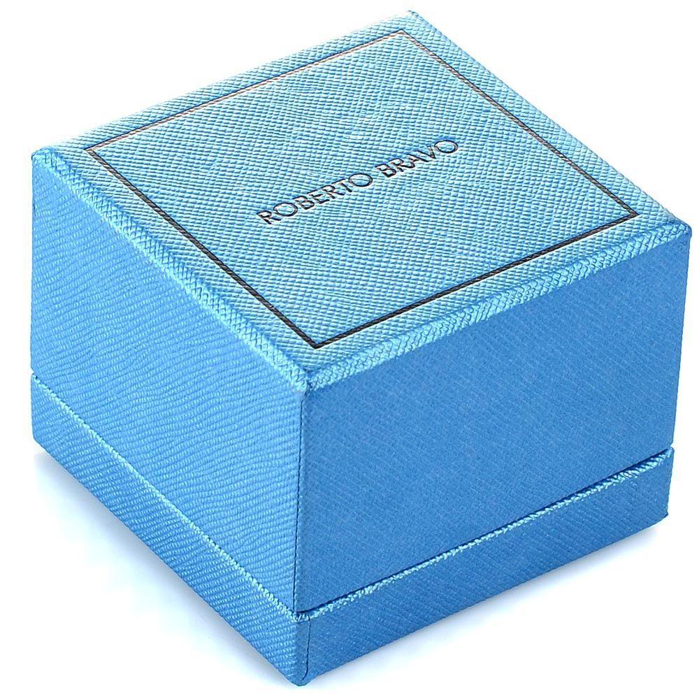 Серьги Roberto Bravo Noahs Ark золотые с бриллиантами бабочками и голубыми цветами
