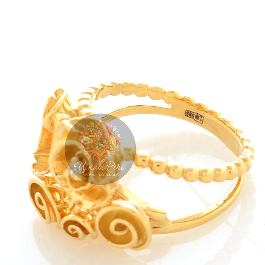 Кольцо Roberto Bravo Gallica с золоыми розами и бриллиантом