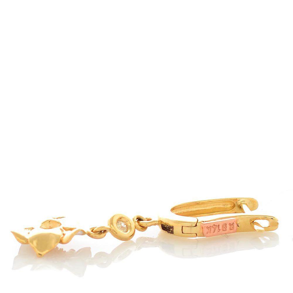 Серьги Roberto Bravo White Dreams золотые с бриллиантами и подвесками в виде цветов