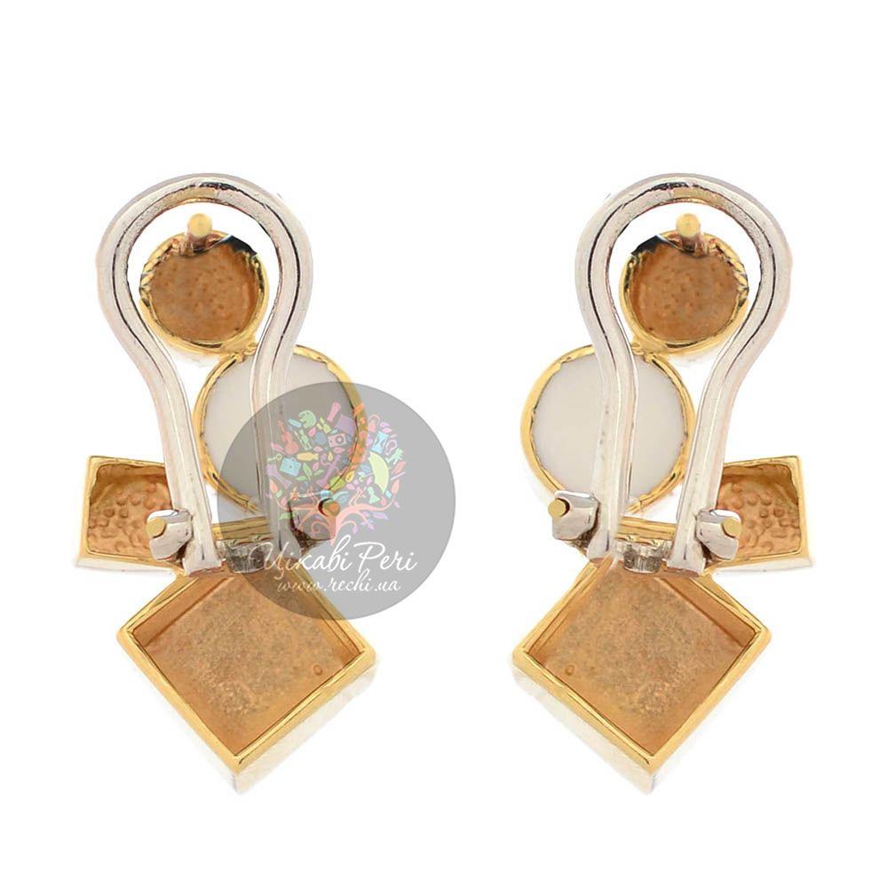 Серьги Roberto Bravo Q Collection из желтого и белого золота