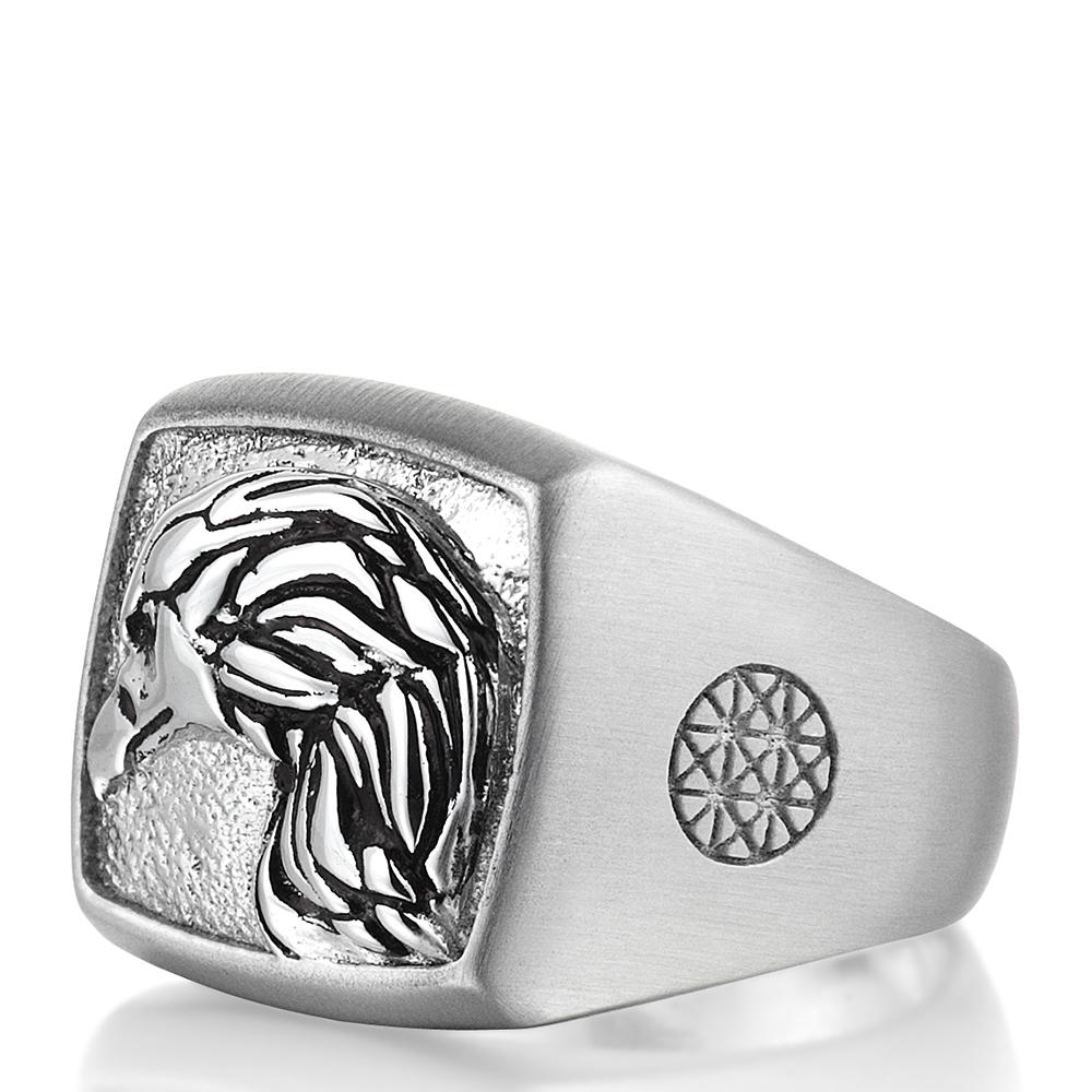 Серебряное кольцо Atolyestone London с профилем орла