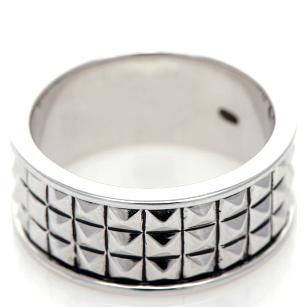 Широкое кольцо 935 by Roberto Bravo с шипами