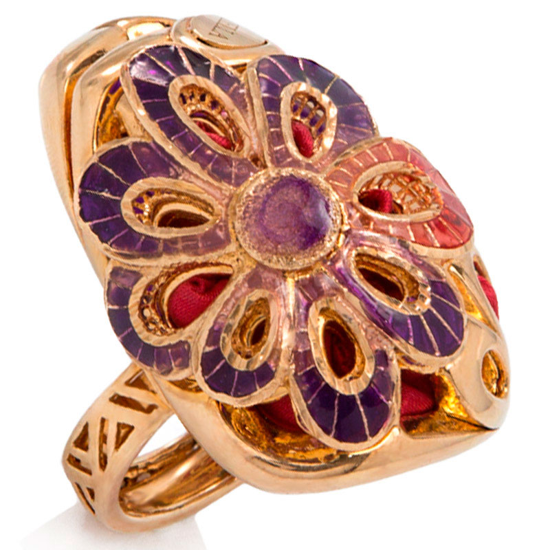 Позолоченный перстень Graziella Margherita с шелковой лентой