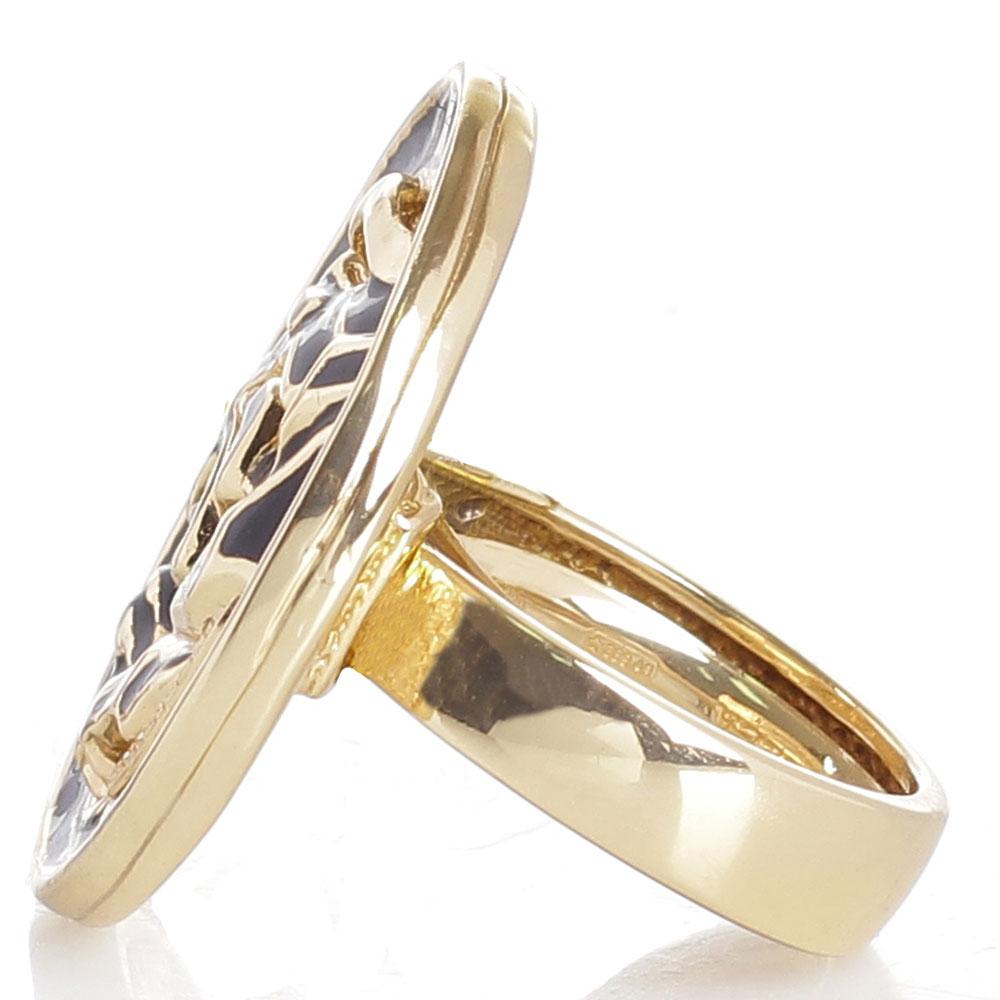 Серебряное кольцо в позолоте Graziella Пантера