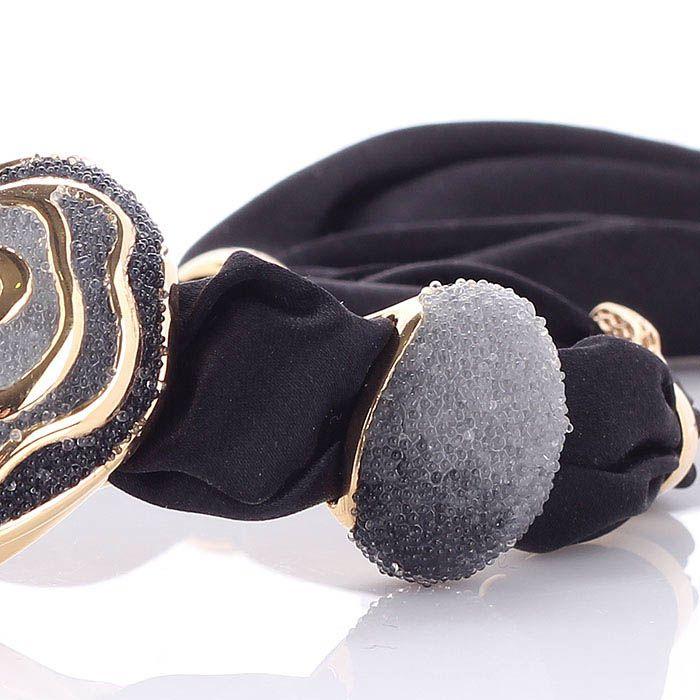 Браслет Graziella из серебра переплетенного с шелком и розами с имитацией росы из кварца