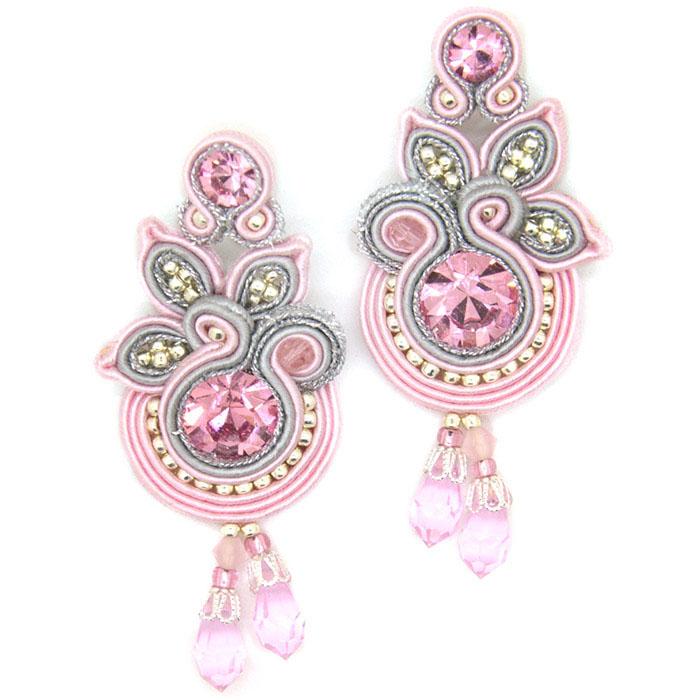 Длинные серьги Olga Sergeychuk розового цвета