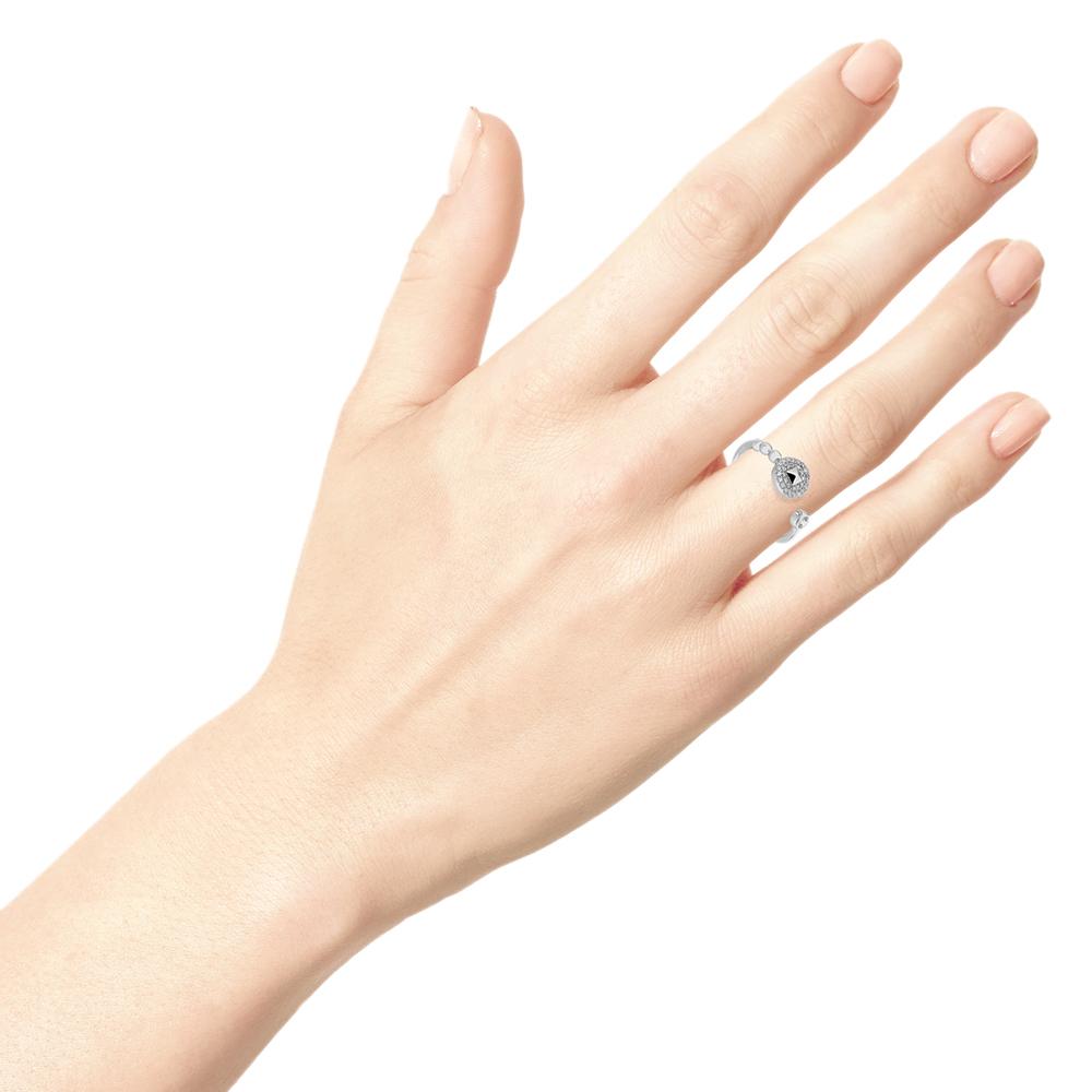 Серебряное кольцо Zeades с цирконами