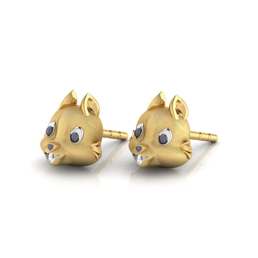 Золотые серьги-пусеты Perfecto Jewellery Kids Collection ue00500-yg0000