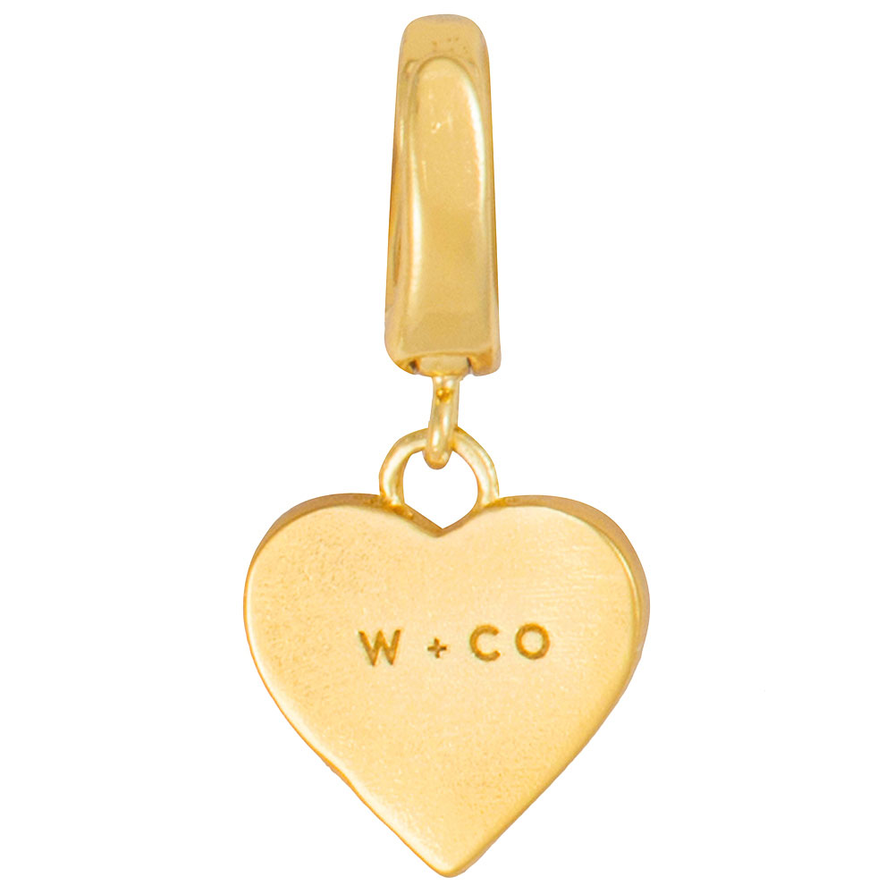 Подвеска-сердце Wanderlust + Co Make It Yours Love Charm