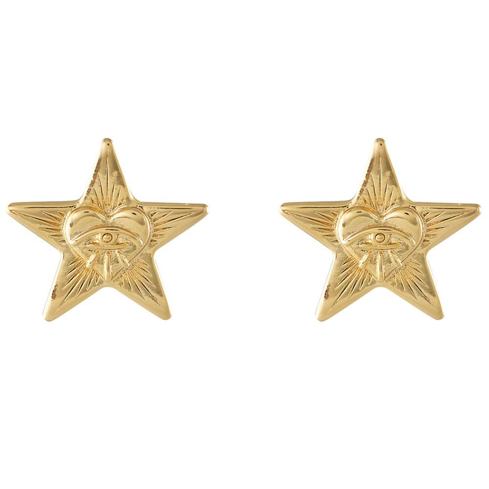 Серьги-гвоздики Wanderlust + Co Wild at Heart Stella в форме звезды