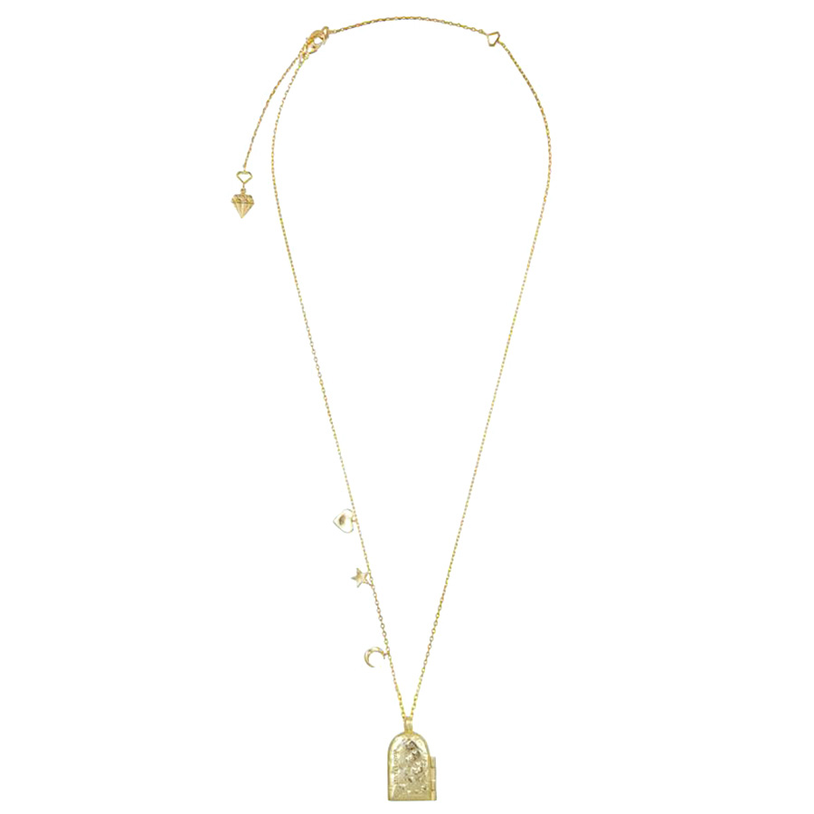 Ожерелье-медальон Wanderlust + Co Wild at Heart Astra с тиснением космических мотивов