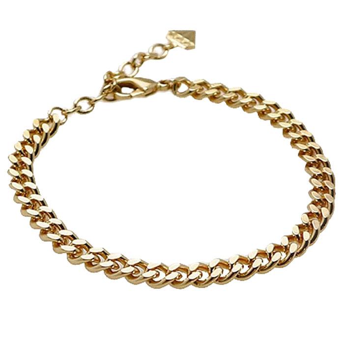 Золотистый браслет Wanderlust + Co Chain Story Romee XL Curb Chain