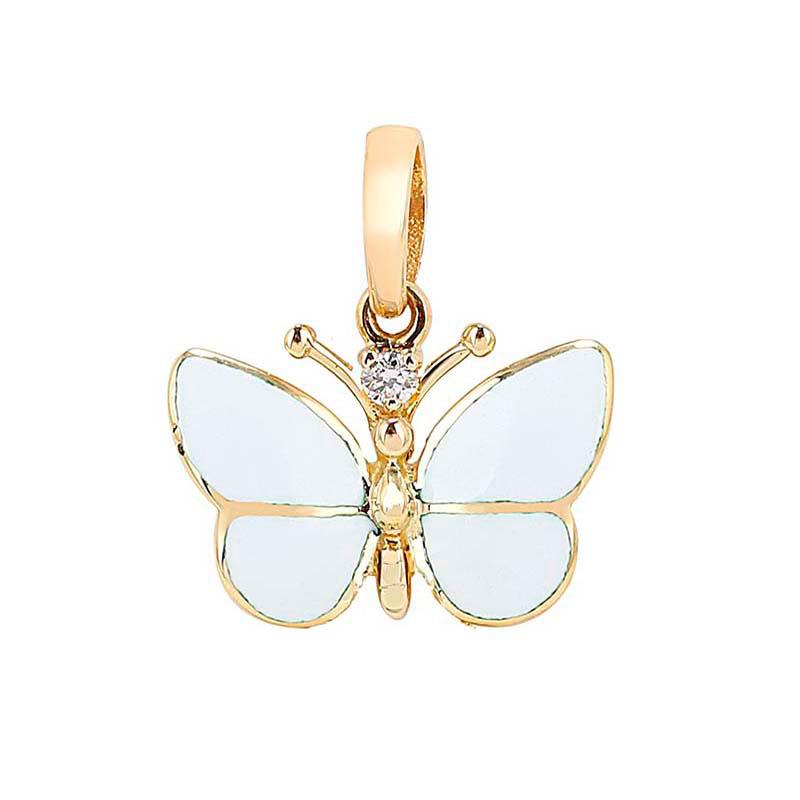 Кулон Roberto Bravo White Dreams с белой бабочкой