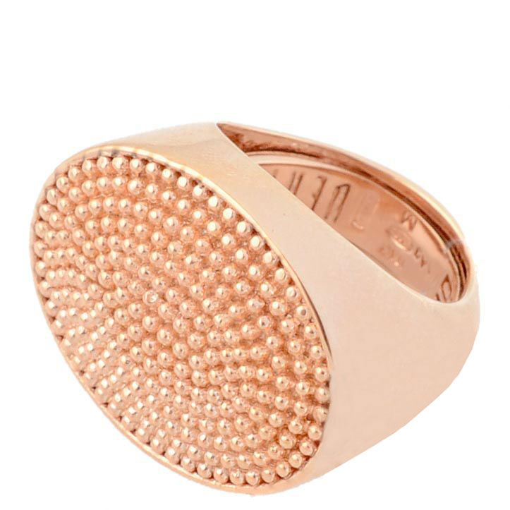 Перстень Pesavento серебряный в розовой позолоте