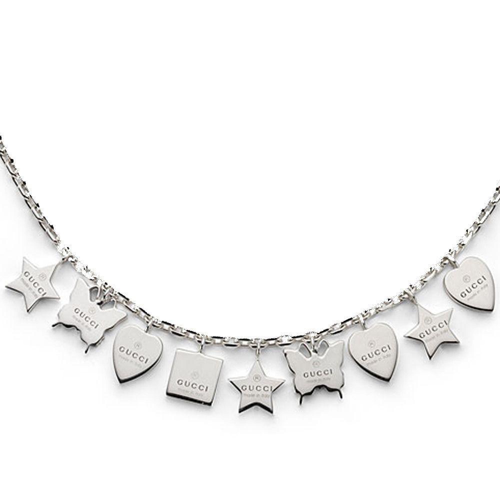 Браслет Gucci из серебра Trademark charm bracelet