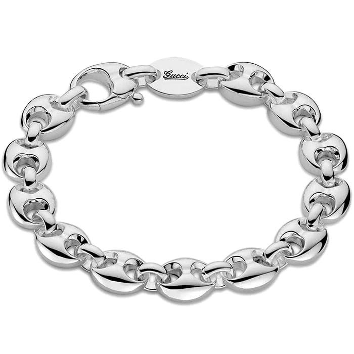 Браслет-цепь Gucci Marina Chain из стерлингового серебра с фирменными звеньями