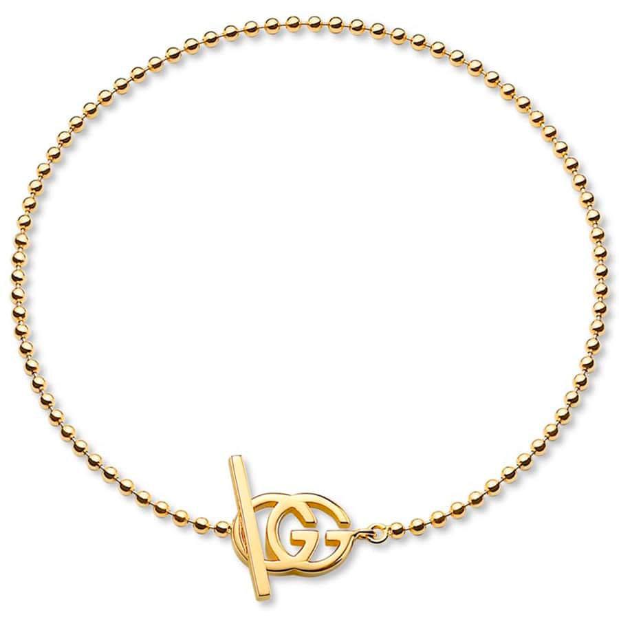 Браслет из желтого золота Gucci Running G с бриллиантами