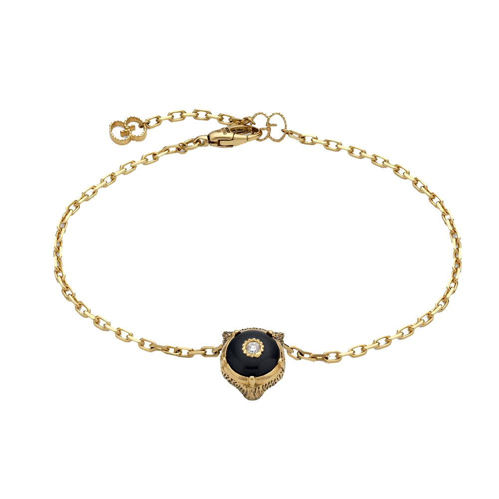 Браслет Gucci Le Marche des Merveilles с подвеской, бриллиантами и черным ониксом