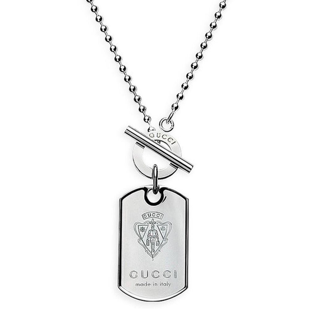 Подвеска Gucci из серебра Dog Tag