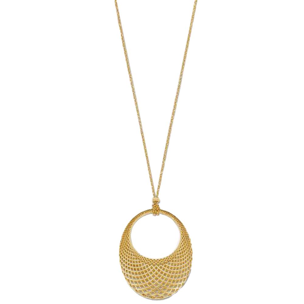 Ожерелье Gucci Diamantissima из желтого золота с подвеской овальной формы