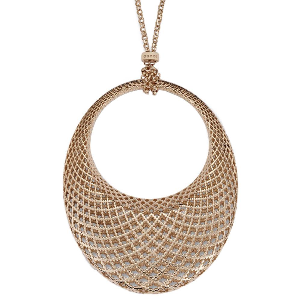 Ожерелье Gucci Diamantissima из розового золота с подвеской овальной формы