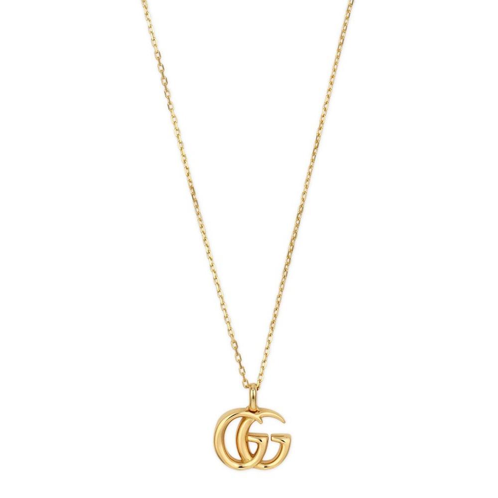 Тонкое золотое ожерелье Gucci Running G с малой подвеской в виде логотипа