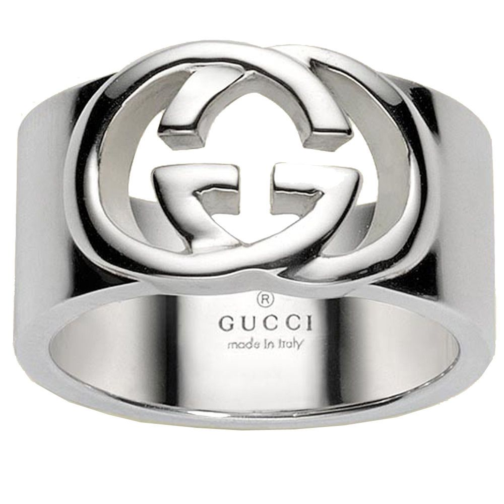 Кольцо Gucci из серебра Silver Britt (wide version)