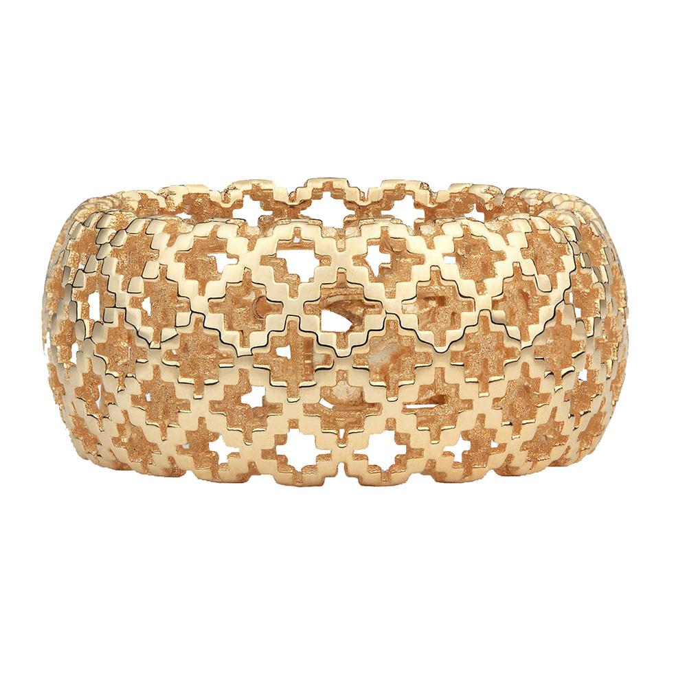Широкое кольцо Gucci Diamantissima из розового золота с перфорацией