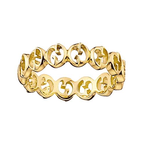 Кольцо Gucci 1973 из желтого золота в виде колец из логотипа