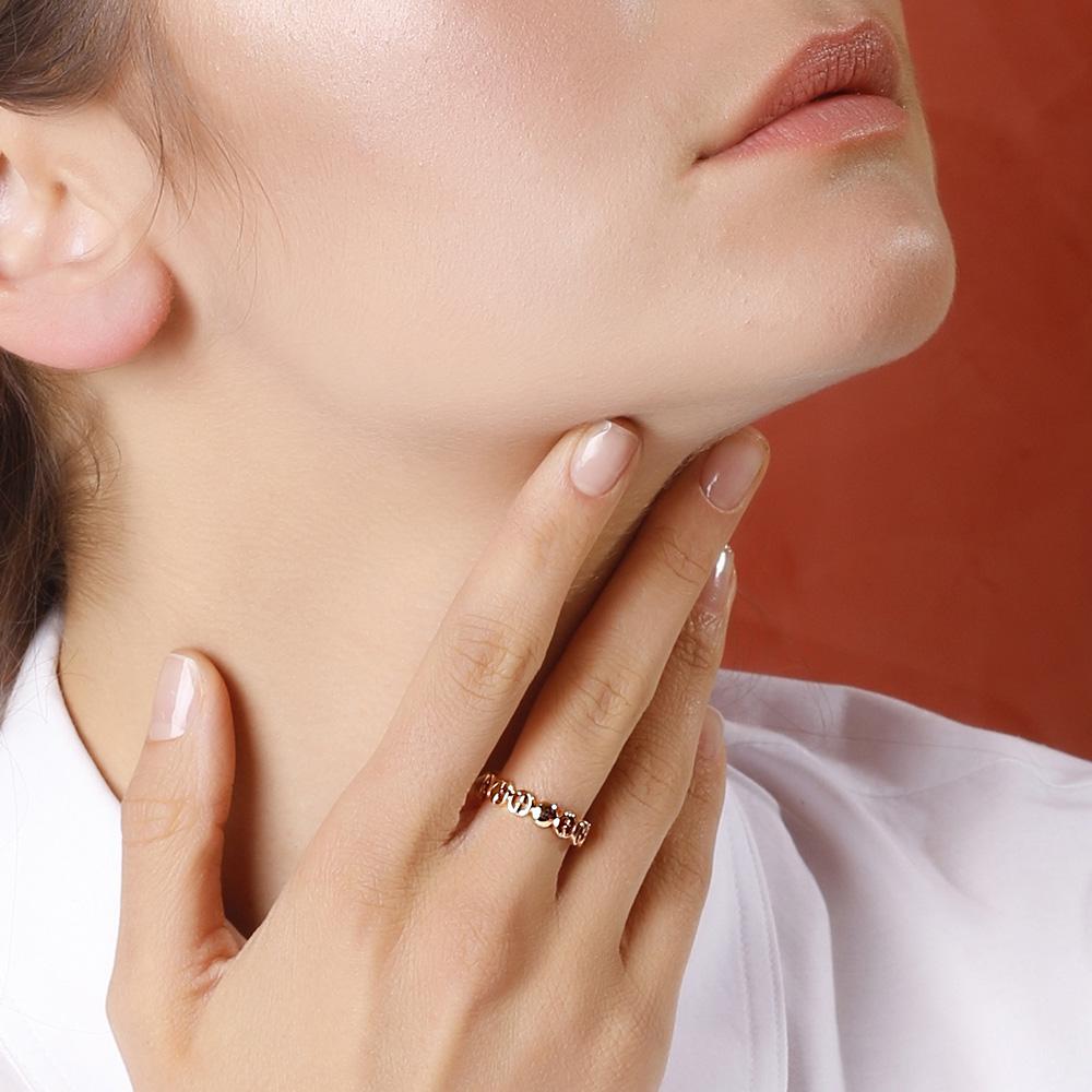 Кольцо Gucci 1973 из розового золота в виде колец из логотипа