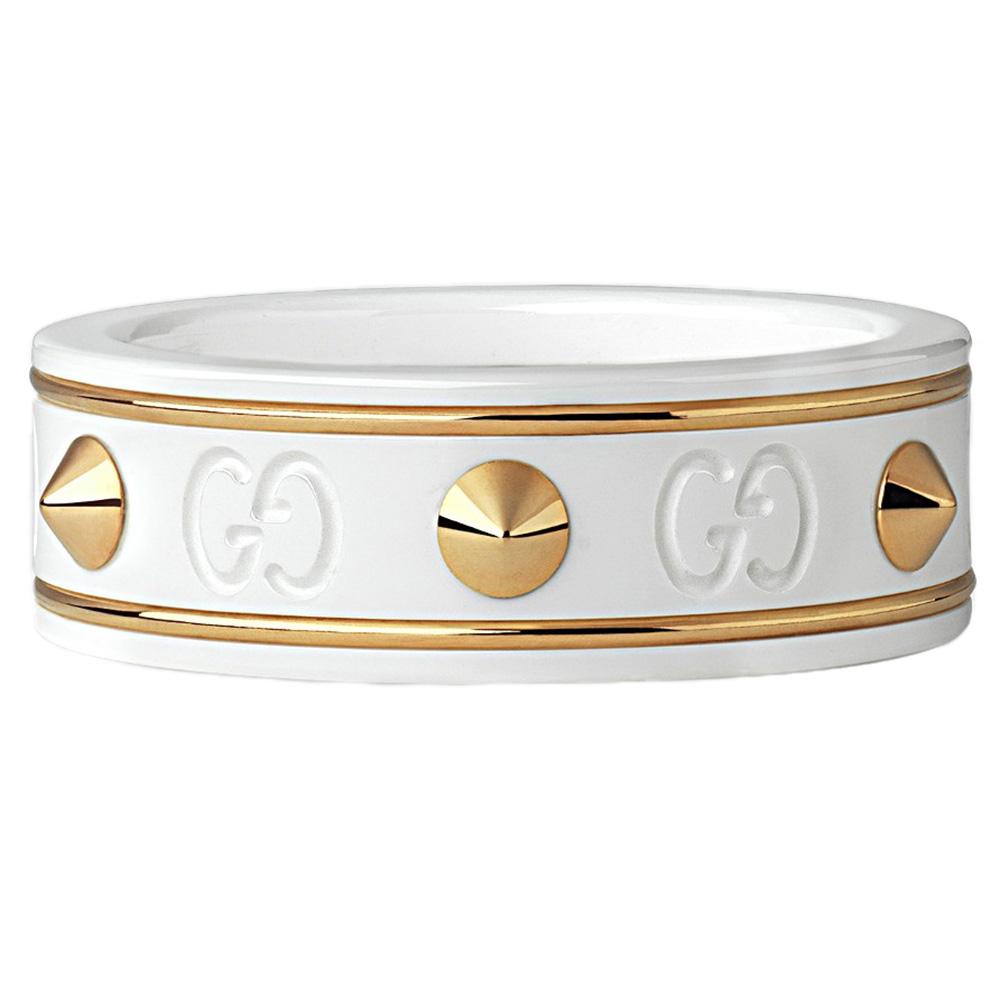 Кольцо Gucci Icon из желтого золота и циркония с шипами
