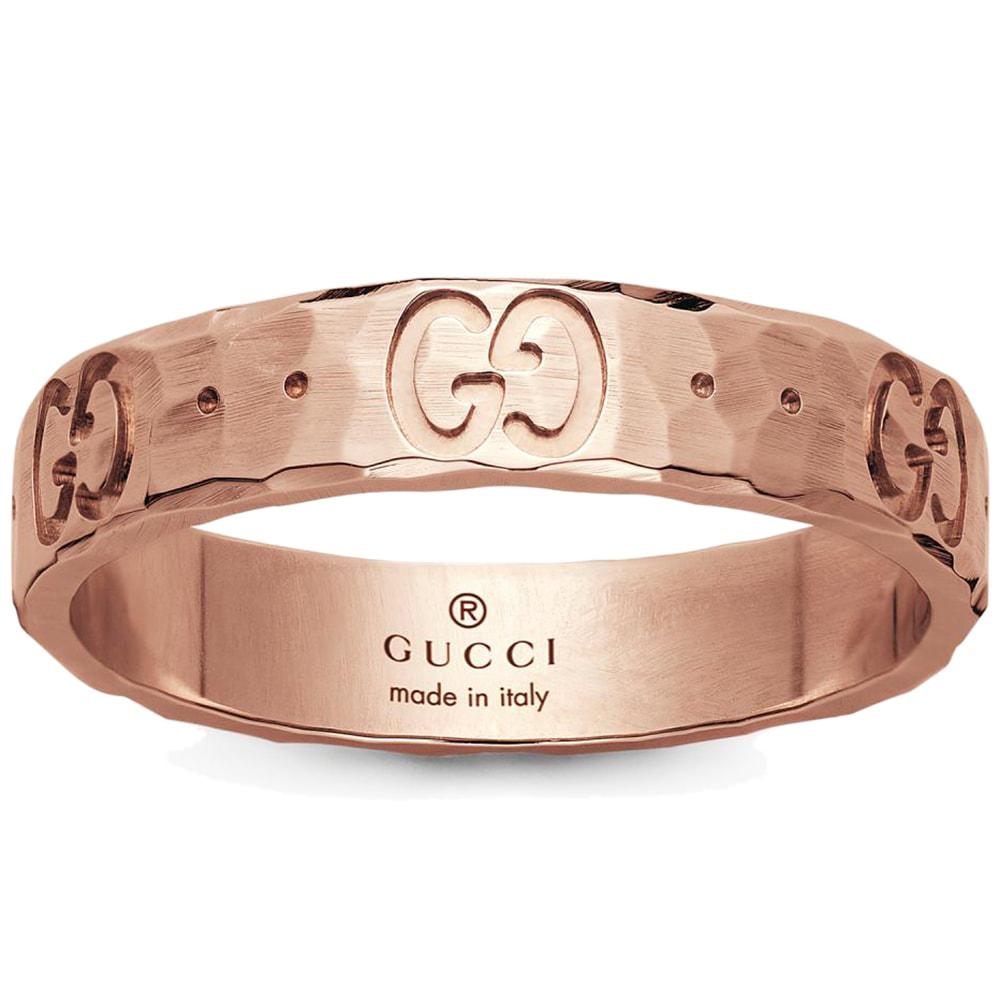 Женское кольцо Gucci Icon из отчеканенного розового золота