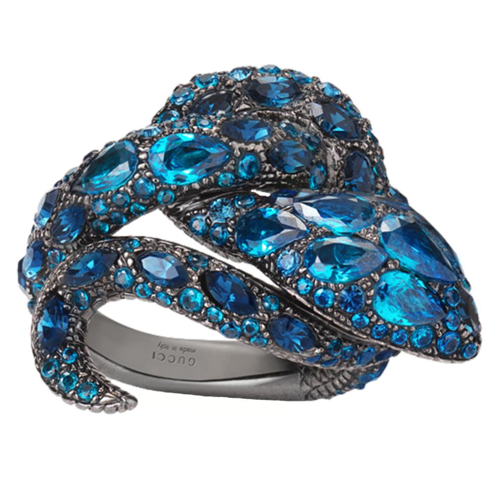 Кольцо Gucci Le Marche des Merveilles с топазами и сапфирами
