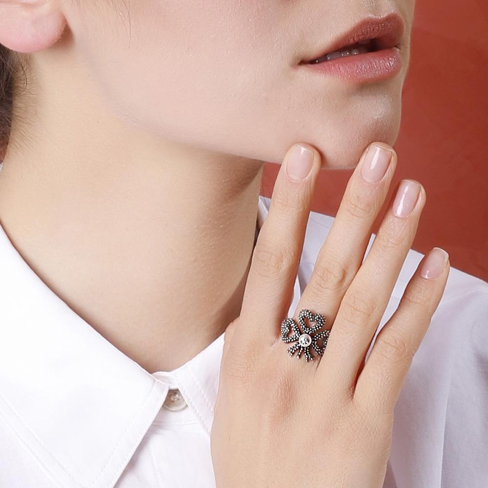 Серебряное кольцо Gucci Steel Cut с искусственной жемчужиной