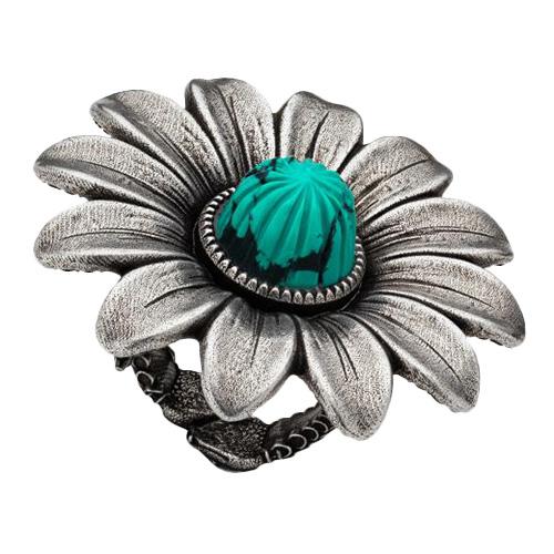 Серебряное кольцо Gucci GG Marmont в виде цветка и двумя сплетенными змеями