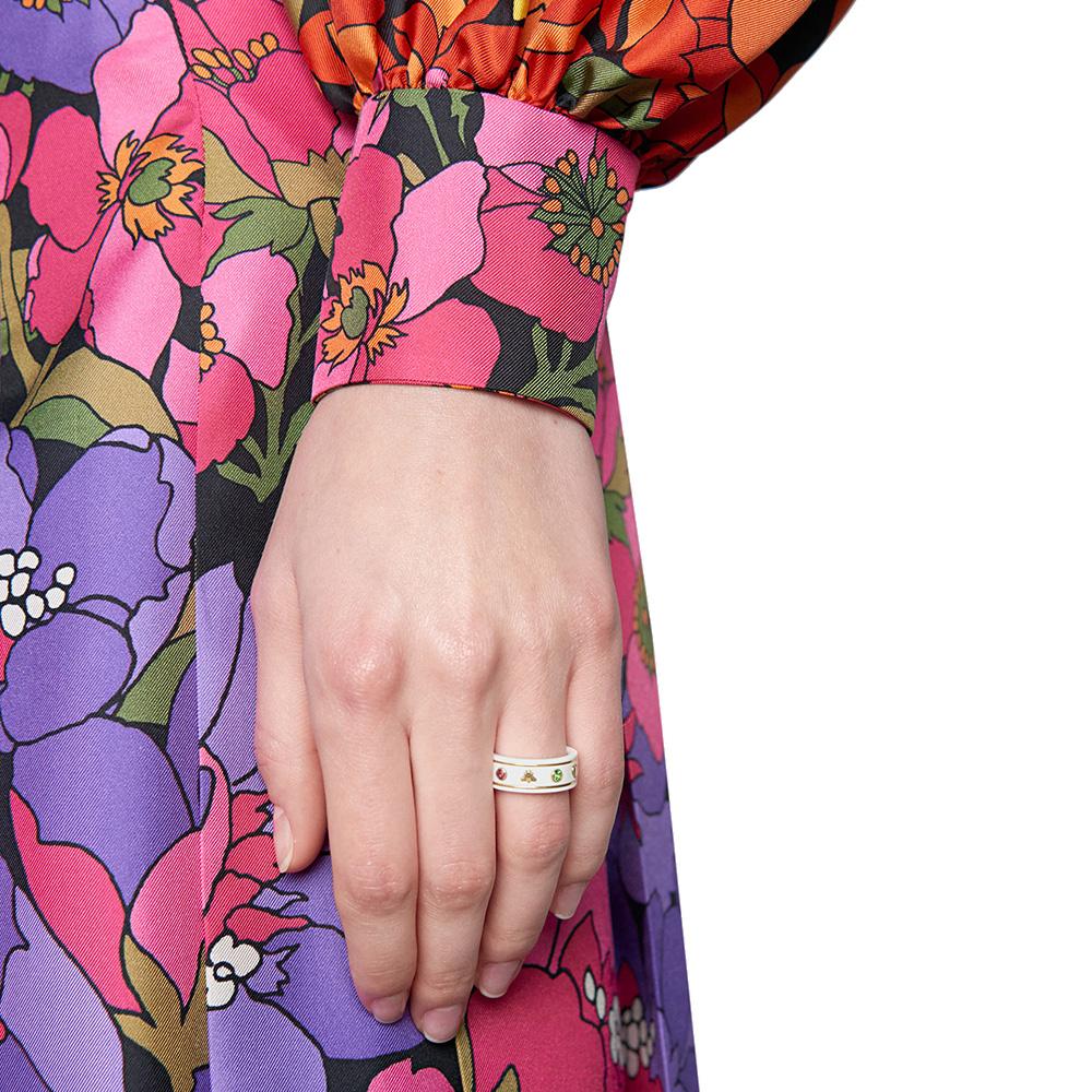 Широкое кольцо Gucci Icon из белого циркония