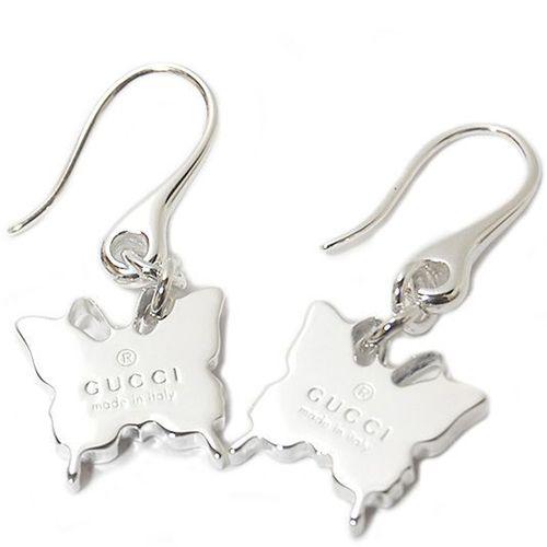 Серьги Gucci из серебра Trademark butterfly