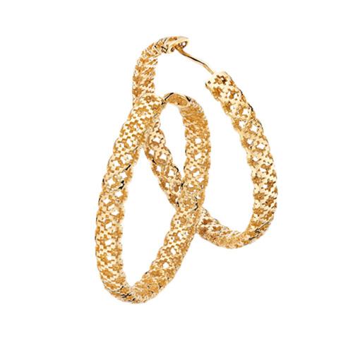 Серьги-кольца Gucci Diamantissima из желтого золота с перфорацией