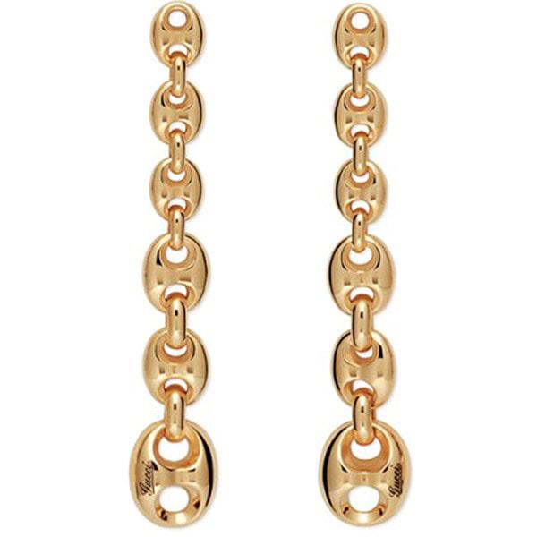 Длинные серьги-гвоздики Gucci Marina Chain в форме цепи из крупных звеньев