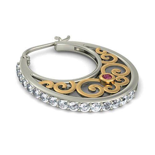 Серьги с бриллиантами Kiev Jewelry Ilka 000674-1046256, фото