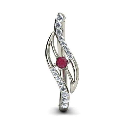 Серьги Kiev Jewelry Thiana с бриллиантами и рубином 000680-1046274, фото