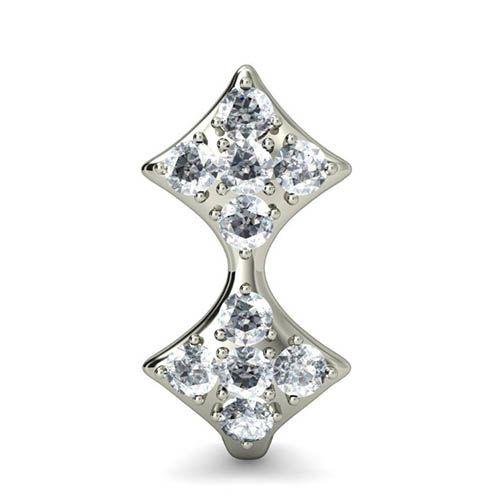 Серьги из белого золота Kiev Jewelry Aryz с бриллиантами 000705-1046338, фото