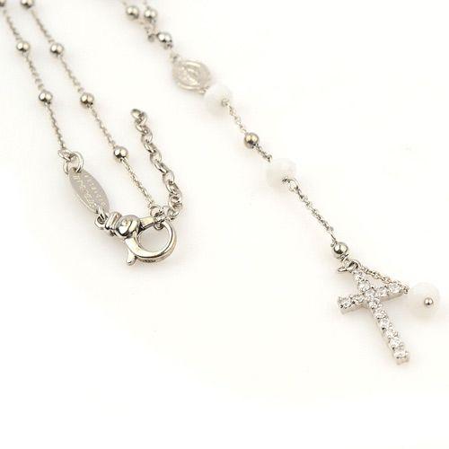 Серебряная цепочка Ottaviani с крестиком, фото