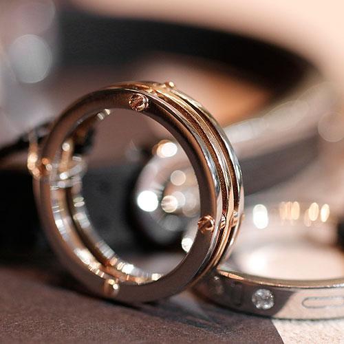 Кольцо Baraka Supernova из розового золота в сочетании с нержавеющей сталью, фото