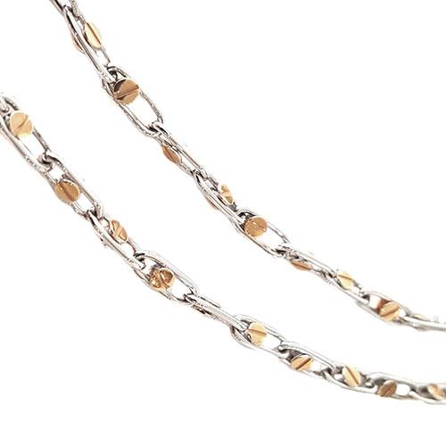 Мужская цепочка Baraka с бриллиантом на застежке, фото
